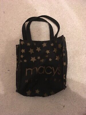 Small Macy Tote Bag, Black With Gold Wording. • 1.50£