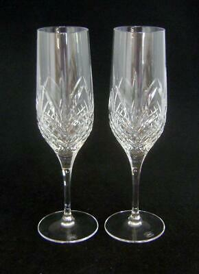 Two Royal Doulton Ascot Champagne Flute Glasses  21.5 Cm High • 22£