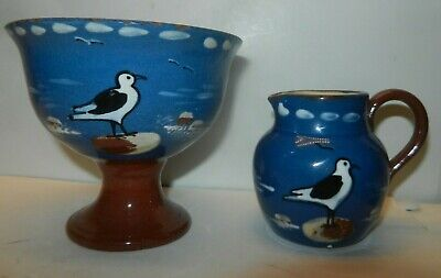 TORQUAY JUG & BOWL With SEAGULL DECORATION • 12£