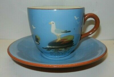 Lands End  DARTMOUTH POTTERY CUP & SAUCER SEAGULL • 9£