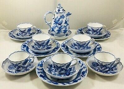 Antique Dresden Villeroy & Boch Coffee / Chocolate Set 1874-1909 • 149.99£