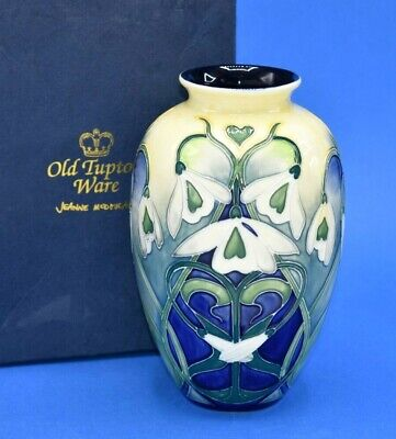 Old Tupton Ware Snowdrop 8 Inch Art Nouveau Style Vase - Boxed • 29.99£