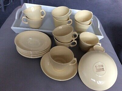 Woods Ware Jasmine Yellow 11 Cups And 9 Saucers  • 24.99£