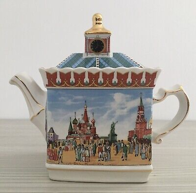 Sadler Teapot Russian Red Square Historical 2019292 Golden Dolphin England • 22.50£