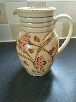 Honiton Pottery Large Attractive Decorative Vintage Jug..intialled J.B • 15£