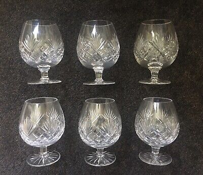 Reduced Set Of 6 Royal Doulton Juno Brandy Glasses • 39.95£