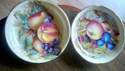 Aynsley Orchard Gold Small Dishes 2 Number Approximately 11cm Wide Nice Decor. • 4.30£