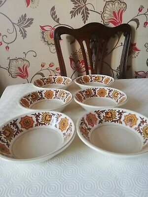 Midwinter Stonehenge Woodlands Pattern Cereal Bowls X 6 • 6.99£