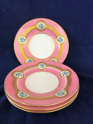 Good Set Of 4 Antique Minton Bone China Hand Painted Side Plates. • 13.50£