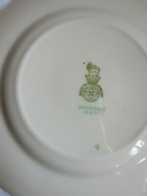 1940-1959 Vintage Royal Doulton Dovedale Pattern Bread And Butter Plates. • 4.70£