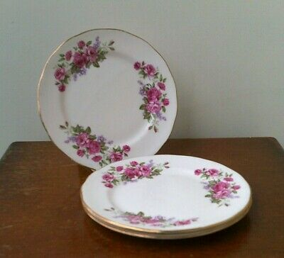 Vintage (1960's) Queen Anne 'Red Rose Design' Fine Bone China 'Side Plates' With • 4.99£