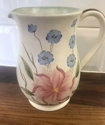 VINTAGE RADFORD POTTERY JUG/pitcher  Handpainted Flowers England 15.5cm Tall • 7.99£