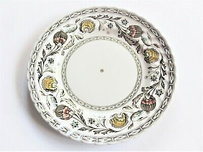 STAFFORDSHIRE RIDGWAY ' BALMORAL ' Vintage Cake Stand Plate 25cms • 10£