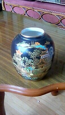 Carlton Ware China Vase Superb Oriental Scene Approximately 12cm High. • 9.99£