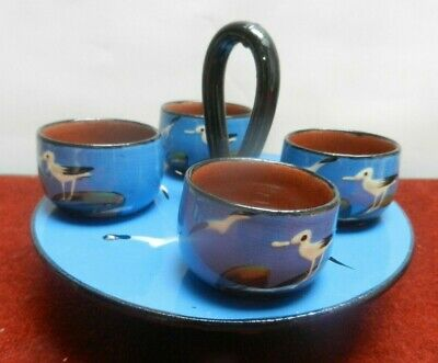 Barton Pottery Egg Cups And Stand  Seagull On Rocks Pattern  • 17£