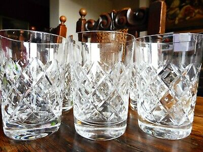 Set Of Six Crystal Cut Glass Brierley Whiskey Tumblers • 48£