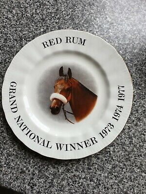 Royal Doulton Decorative Plate Of Red Rum Winning 1973 1974 1977 • 0.99£