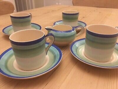 Gray's Pottery Coffee Cups & Saucers And Jug • 23£