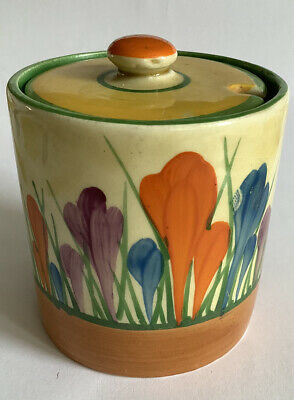 Clarice Cliff Pottery Autumn Crocus Preserve  Pot With Lid • 52£