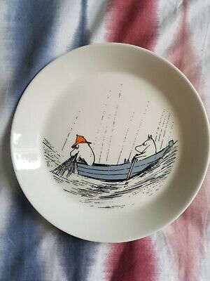 Arabia Finland Moomin Out To Sea Plate No Chips • 14.50£