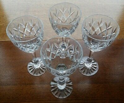 Royal Doulton Lead Crystal Wine Glasses X 4 (16.5cm) • 29.99£