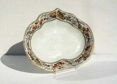 ANTIQUE DERBY 18th Century, Heart Shaped Dish, Pattern 94, Nottingham Road 1783+ • 49£