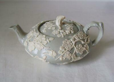 Early Minton Tea Pot / Teapot With White Sprigged Decoration C.1830 A/F • 25£