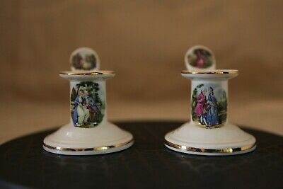 Pair Of Shannonbridge Potteries Candle Holders For 50th Golden Anniversary • 5£