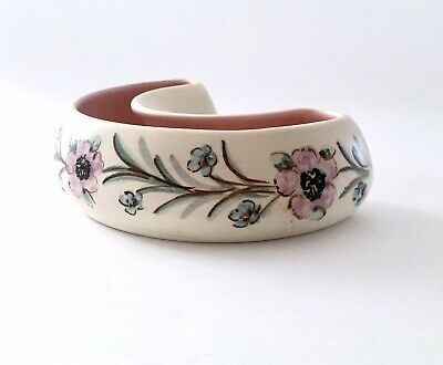 Pretty Posy Trough Satin Glazed Nicely Hand Painted From Axe Vale Pottery Devon  • 12£