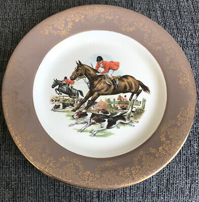 Vintage Lord Nelson Pottery Plate Depicting A Hunting Scene. • 1.50£