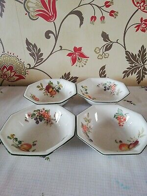 Johnson Brothers Fresh Fruit Cereal Bowls X 4 • 10£