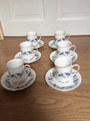"""ROYAL STANDARD """"TREND """" COFFEE CUPS AND SAUCERS X 6 • 8£"""