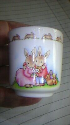Unboxed Beatrix Potter Type Bunny Eggcup Copyright RD 1996 • 6£
