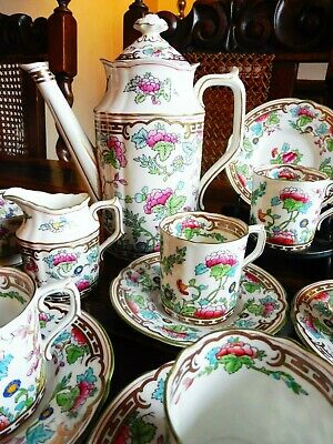 Stunning Rare Royal Crown Derby Indian Tree Complete Coffee Set. • 285£