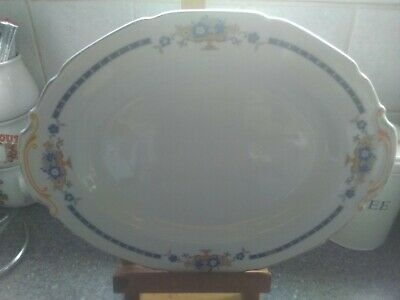 Vintage Grindley Serving Plate Cream With Blue And Yellow Floral Design. • 4.95£