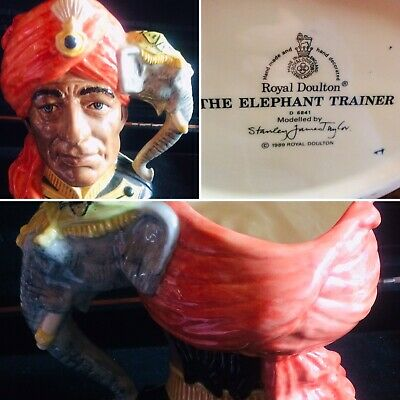 "Sweet Vintage Royal Doulton Character Jug ""the Elephant Trainer"" © 1989. • 6.50£"