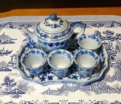 Small Blue Flower Chinese Tea Set • 28£