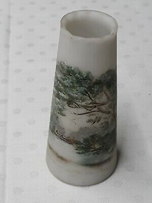 Opal Wirths Glass Vase Hindhead Waggoners Well Signed M.W 11cm High • 25£