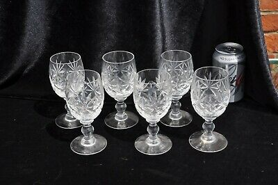 Wine Glasses - Set Of 6 Please See Photos I Think They Are Watford Crystal • 15£