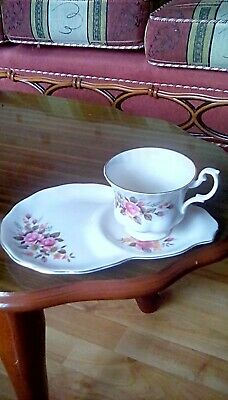 Vintage Richmond China Tv Teacup And Saucer With Floral Pattern.plate 22cm Long. • 4.99£