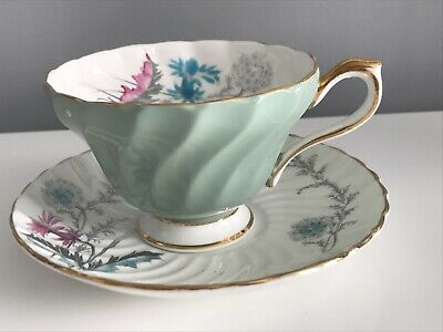 Stunningly Beautiful China Hand Painted Cup And Saucer By Aynsley • 20£