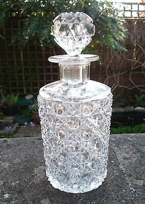 Antique Victorian Edwardian French Baccarat Glass Scent / Perfume Bottle Flacon • 75£