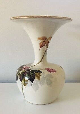 Royal Doulton Lambeth  Flower Faience Trumpet Vase • 119£