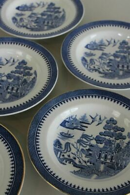 5 Mintons Willow Blue White Bowls • 25£