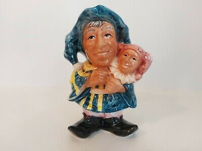 A Ceramic Toby Jug Featuring A Jester • 5.25£