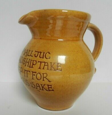 Bideford Pottery North Devon Pottery  FRIENDSHIP Jug -  Juniper -   • 24£