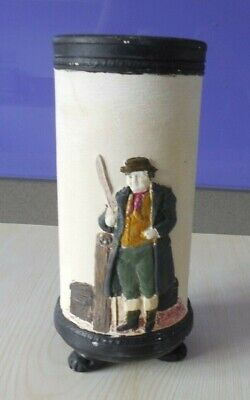 Bretby Flower Vase With Toby Weller Figure.  Reg 740067  Restored A/F • 3.50£