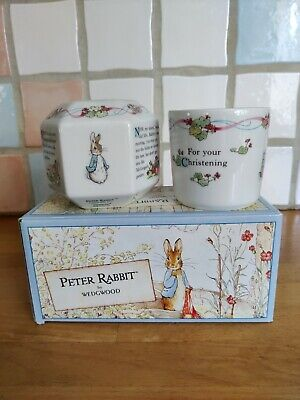 Wedgewood Peter Rabbit Christening Gift Money Box And Mug Collectable • 3.50£