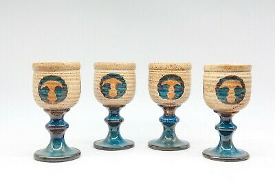 Set Of Four Laugharne Pottery Goblets - Made In Wales • 9.99£