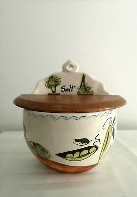 RARE Large Toni Raymond Wall SALT POT! Hallmarked And Signed By Artist!  • 8.99£
